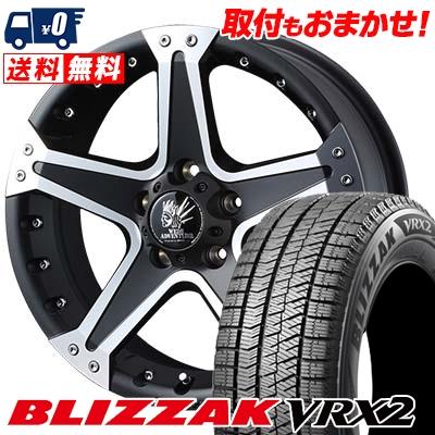 195/65R16 BRIDGESTONE ブリヂストン BLIZZAK VRX2 ブリザック VRX2 MUD VANCE01 マッドヴァンス01 スタッドレスタイヤホイール4本セット