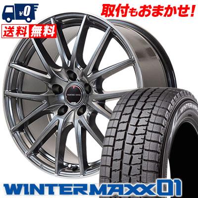 225/50R17 94Q DUNLOP ダンロップ WINTER MAXX 01 WM01 ウインターマックス 01 VERTEC ONE Eins.1 ヴァーテック ワン アインス ワン スタッドレスタイヤホイール4本セット