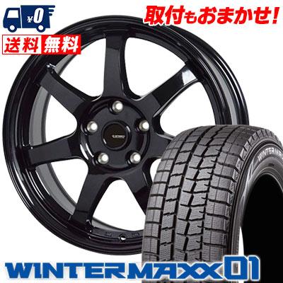 205/65R15 94Q DUNLOP ダンロップ WINTER MAXX 01 WM01 ウインターマックス 01 G.speed G-03 Gスピード G-03 スタッドレスタイヤホイール4本セット