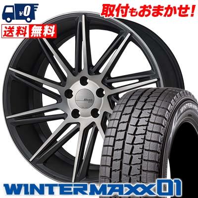 235/50R18 DUNLOP ダンロップ WINTER MAXX 01 WM01 ウインターマックス 01 MONZA Warwic REVOX モンツァ ワーウィック レヴォックス スタッドレスタイヤホイール4本セット