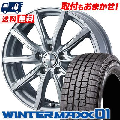 205/70R15 96Q DUNLOP ダンロップ WINTER MAXX 01 WM01 ウインターマックス 01 JOKER SHAKE ジョーカー シェイク スタッドレスタイヤホイール4本セット