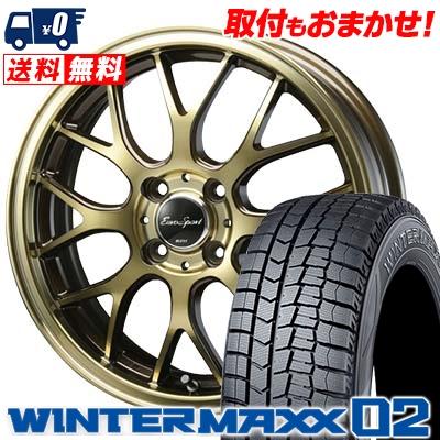 155/55R14 DUNLOP ダンロップ WINTER MAXX 02 WM02 ウインターマックス 02 Eouro Sport Type 805 ユーロスポーツ タイプ805 スタッドレスタイヤホイール4本セット