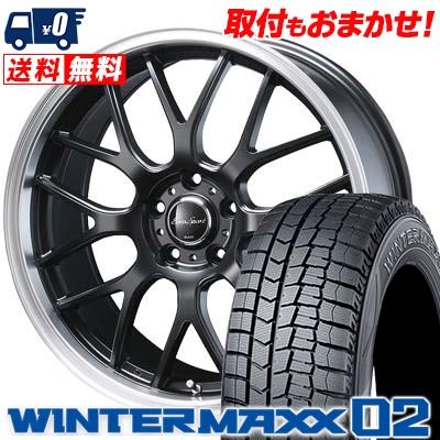 225/55R18 DUNLOP ダンロップ WINTER MAXX 02 WM02 ウインターマックス 02 Eoro Sport Type 805 ユーロスポーツ タイプ805 スタッドレスタイヤホイール4本セット