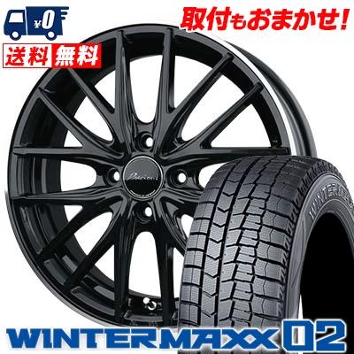 185/55R16 DUNLOP ダンロップ WINTER MAXX 02 WM02 ウインターマックス 02 Precious AST M1 プレシャス アスト M1 スタッドレスタイヤホイール4本セット