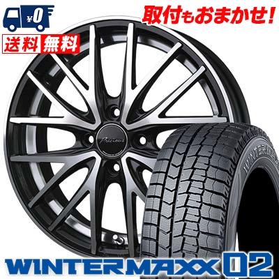 165/55R15 DUNLOP ダンロップ WINTER MAXX 02 WM02 ウインターマックス 02 Precious AST M1 プレシャス アスト M1 スタッドレスタイヤホイール4本セット
