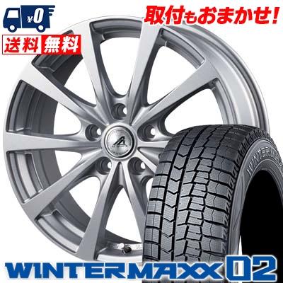 215/65R15 96Q DUNLOP ダンロップ WINTER MAXX 02 WM02 ウインターマックス 02 AZ SPORTS EX10 AZスポーツ EX10 スタッドレスタイヤホイール4本セット