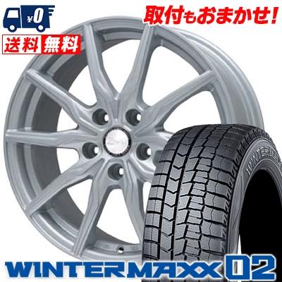 195/65R16 DUNLOP ダンロップ WINTER MAXX 02 WM02 ウインターマックス 02 B-WIN KRX B-WIN KRX スタッドレスタイヤホイール4本セット