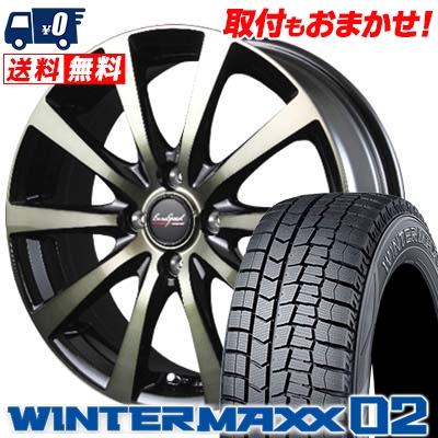 155/65R14 DUNLOP ダンロップ WINTER MAXX 02 WM02 ウインターマックス 02 EuroSpeed BL10 ユーロスピード BL10 スタッドレスタイヤホイール4本セット