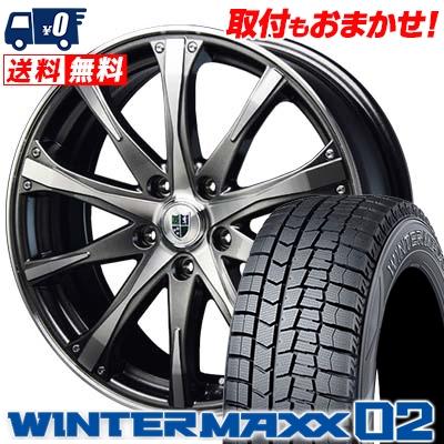 215/50R17 DUNLOP ダンロップ WINTER MAXX 02 WM02 ウインターマックス 02 Bahnsport Type504 バーンシュポルト タイプ504 スタッドレスタイヤホイール4本セット