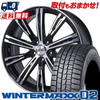 235/45R18 DUNLOP ダンロップ WINTER MAXX 02 WM02 ウインターマックス 02 Bahnsport TYPE 525 バーンシュポルト タイプ525 スタッドレスタイヤホイール4本セット