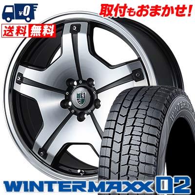 245/40R19 DUNLOP ダンロップ WINTER MAXX 02 WM02 ウインターマックス 02 Bahnsport TYPE DX バーンシュポルト タイプDX スタッドレスタイヤホイール4本セット