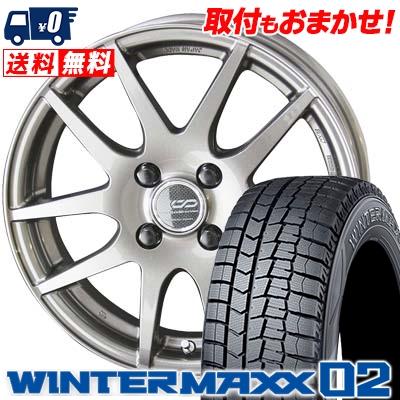 145/65R15 DUNLOP ダンロップ WINTER MAXX 02 WM02 ウインターマックス 02 ENKEI CREATIVE DIRECTION CDR2 エンケイ クリエイティブ ディレクション CD-R2 スタッドレスタイヤホイール4本セット