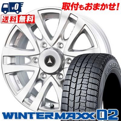 205/70R15 96Q DUNLOP ダンロップ WINTER MAXX 02 ウインターマックス 02 MUD CLIFF マッドクリフ スタッドレスタイヤホイール4本セット