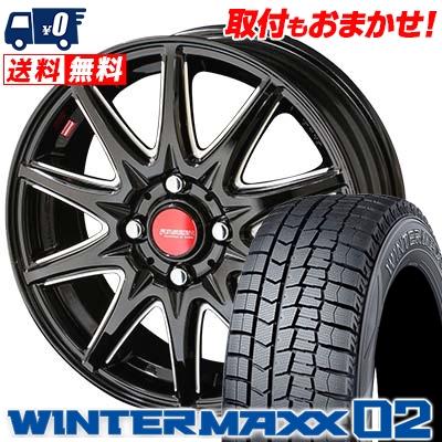 175/60R15 DUNLOP ダンロップ WINTER MAXX 02 WM02 ウインターマックス 02 RIVAZZA CORSE リヴァッツァ コルセ スタッドレスタイヤホイール4本セット【取付対象】