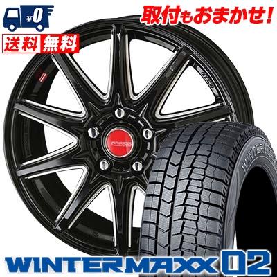 215/70R15 DUNLOP ダンロップ WINTER MAXX 02 WM02 ウインターマックス 02 RIVAZZA CORSE リヴァッツァ コルセ スタッドレスタイヤホイール4本セット
