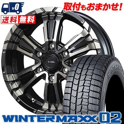 215/65R16 DUNLOP ダンロップ WINTER MAXX 02 WM02 ウインターマックス 02 NITRO POWER CROSS CLAW ナイトロパワー クロスクロウ スタッドレスタイヤホイール4本セット【取付対象】
