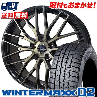 235/45R18 DUNLOP ダンロップ WINTER MAXX 02 WM02 ウインターマックス 02 Warwic Empress Mesh ワーウィック エンプレスメッシュ スタッドレスタイヤホイール4本セット