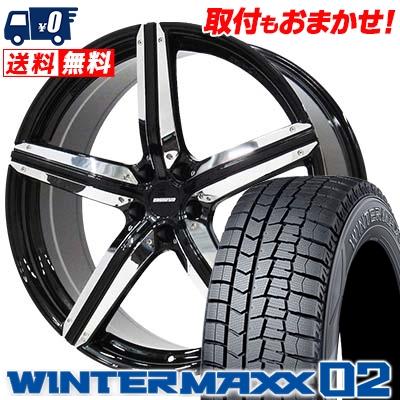235/45R18 DUNLOP ダンロップ WINTER MAXX 02 WM02 ウインターマックス 02 ESTATUS Style-CTR エステイタス スタイルCTR スタッドレスタイヤホイール4本セット