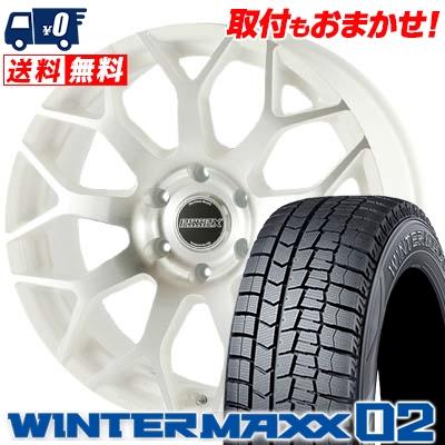 225/50R18 DUNLOP ダンロップ WINTER MAXX 02 WM02 ウインターマックス 02 ESSEX EM エセックス EM スタッドレスタイヤホイール4本セット