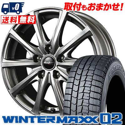 215/70R15 DUNLOP ダンロップ WINTER MAXX 02 WM02 ウインターマックス 02 EuroSpeed V25 ユーロスピード V25 スタッドレスタイヤホイール4本セット