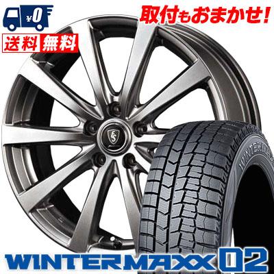 215/65R15 DUNLOP ダンロップ WINTER MAXX 02 WM02 ウインターマックス 02 Euro Speed G10 ユーロスピード G10 スタッドレスタイヤホイール4本セット