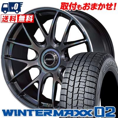 245/45R19 DUNLOP ダンロップ WINTER MAXX 02 WM02 ウインターマックス 02 RAYS VOLKRACING G27 レイズ ボルクレーシング G27 スタッドレスタイヤホイール4本セット