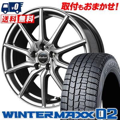 205/65R15 94Q DUNLOP ダンロップ WINTER MAXX 02 WM02 ウインターマックス 02 EuroSpeed G810 ユーロスピード G810 スタッドレスタイヤホイール4本セット