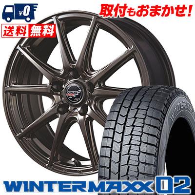 195/60R15 88Q DUNLOP ダンロップ WINTER MAXX 02 WM02 ウインターマックス 02 FINALSPEED GR-Volt ファイナルスピード GRボルト スタッドレスタイヤホイール4本セット