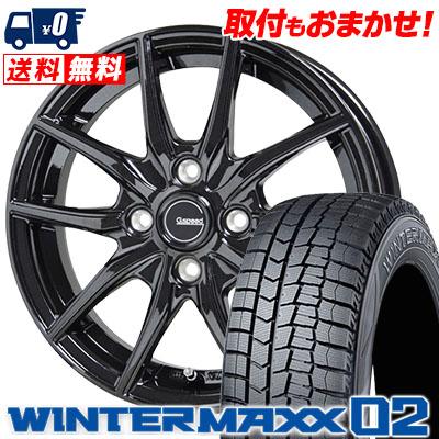 165/70R14 DUNLOP ダンロップ WINTER MAXX 02 WM02 ウインターマックス 02 G.speed G-02 Gスピード G-02 スタッドレスタイヤホイール4本セット