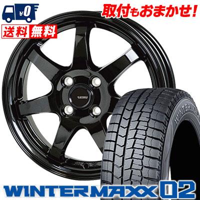 185/60R14 82Q DUNLOP ダンロップ WINTER MAXX 02 WM02 ウインターマックス 02 G.speed G-03 Gスピード G-03 スタッドレスタイヤホイール4本セット