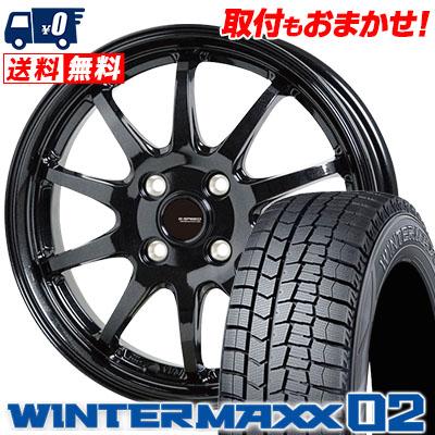 185/60R16 86Q DUNLOP ダンロップ WINTER MAXX 02 WM02 ウインターマックス 02 G.speed G-04 Gスピード G-04 スタッドレスタイヤホイール4本セット