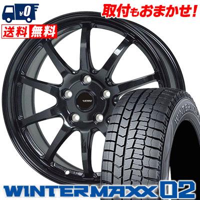 195/65R16 92Q DUNLOP ダンロップ WINTER MAXX 02 WM02 ウインターマックス 02 G.speed G-04 Gスピード G-04 スタッドレスタイヤホイール4本セット