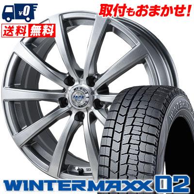 235/45R18 DUNLOP ダンロップ WINTER MAXX 02 WM02 ウインターマックス 02 ZACK JP-110 ザック JP110 スタッドレスタイヤホイール4本セット