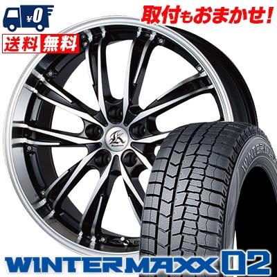 注目 245/45R17 DUNLOP ダンロップ WINTER MAXX 02 WM02 ウインターマックス 02 Kashina XV5 カシーナ XV5 スタッドレスタイヤホイール4本セット, サカエムラ 9eb8acca