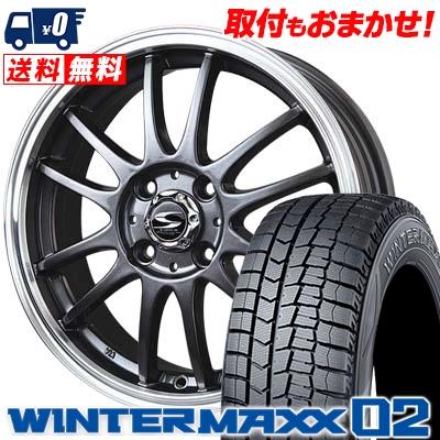 165/65R15 DUNLOP ダンロップ WINTER MAXX 02 WM02 ウインターマックス 02 BADX S-HOLD LAGUNA バドックス エスホールド ラグナ スタッドレスタイヤホイール4本セット