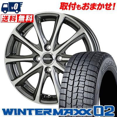 185/55R16 83Q DUNLOP ダンロップ WINTER MAXX 02 WM02 ウインターマックス 02 Laffite LE-04 ラフィット LE-04 スタッドレスタイヤホイール4本セット