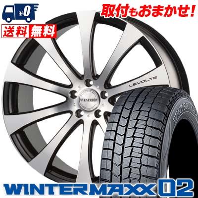 235/45R18 DUNLOP ダンロップ WINTER MAXX 02 WM02 ウインターマックス 02 VENERDi LEVOLTE ヴェネルディ レヴォルテ スタッドレスタイヤホイール4本セット