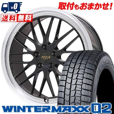 215/50R17 DUNLOP ダンロップ WINTER MAXX 02 WM02 ウインターマックス 02 Leycross REZERVA レイクロス レゼルヴァ スタッドレスタイヤホイール4本セット