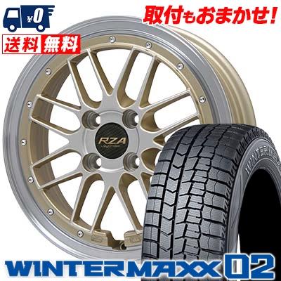 185/55R16 DUNLOP ダンロップ WINTER MAXX 02 WM02 ウインターマックス 02 Leycross REZERVA レイクロス レゼルヴァ スタッドレスタイヤホイール4本セット