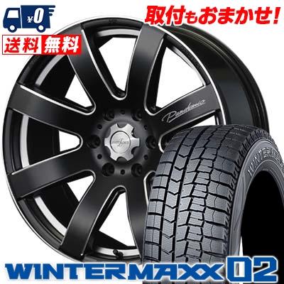 225/50R18 DUNLOP ダンロップ WINTER MAXX 02 WM02 ウインターマックス 02 PANDEMIC LW-8 MONO BLOCK パンデミック LW-8 モノブロック スタッドレスタイヤホイール4本セット