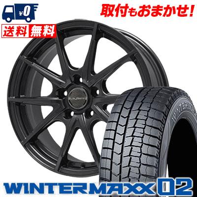 195/70R15 DUNLOP ダンロップ WINTER MAXX 02 WM02 ウインターマックス 02 LeyBahn WGS レイバーン WGS スタッドレスタイヤホイール4本セット【取付対象】