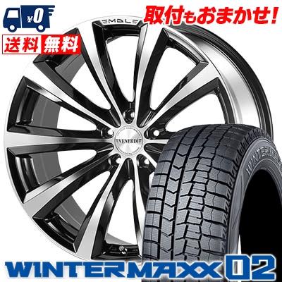 225/55R18 DUNLOP ダンロップ WINTER MAXX 02 WM02 ウインターマックス 02 VENERDi MADELENA ヴェネルディ マデリーナ スタッドレスタイヤホイール4本セット