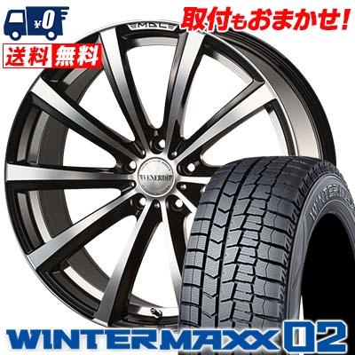 235/45R18 DUNLOP ダンロップ WINTER MAXX 02 WM02 ウインターマックス 02 VENERDi MADELENA MATERA ヴェネルディ マデリーナ マテーラ スタッドレスタイヤホイール4本セット