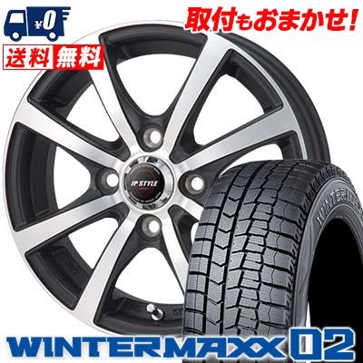 165/60R15 DUNLOP ダンロップ WINTER MAXX 02 WM02 ウインターマックス 02 JP STYLE MBS JPスタイル MBS スタッドレスタイヤホイール4本セット