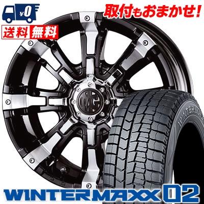 215/60R17 DUNLOP ダンロップ WINTER MAXX 02 WM02 ウインターマックス 02 MG BEAST MG ビースト スタッドレスタイヤホイール4本セット