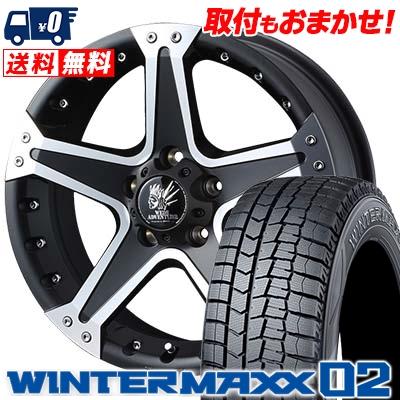 195/65R16 DUNLOP ダンロップ WINTER MAXX 02 WM02 ウインターマックス 02 MUD VANCE01 マッドヴァンス01 スタッドレスタイヤホイール4本セット【取付対象】