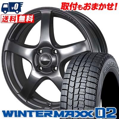 185/65R15 DUNLOP ダンロップ WINTER MAXX 02 WM02 ウインターマックス 02 PIAA Eleganza S-01 PIAA エレガンツァ S-01 スタッドレスタイヤホイール4本セット
