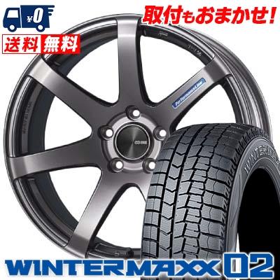 235/45R18 DUNLOP ダンロップ WINTER MAXX 02 WM02 ウインターマックス 02 ENKEI PerformanceLine PF-07 エンケイ パフォーマンスライン PF07 スタッドレスタイヤホイール4本セット