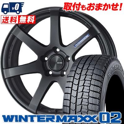 245/40R19 DUNLOP ダンロップ WINTER MAXX 02 WM02 ウインターマックス 02 ENKEI PerformanceLine PF-07 エンケイ パフォーマンスライン PF07 スタッドレスタイヤホイール4本セット