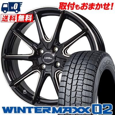165/60R14 DUNLOP ダンロップ WINTER MAXX 02 WM02 ウインターマックス 02 CROSS SPEED PREMIUM RS10 クロススピード プレミアム RS10 スタッドレスタイヤホイール4本セット